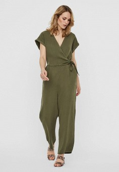 Комбинезон, Vero Moda, цвет: хаки. Артикул: VE389EWHJEG5. Одежда / Комбинезоны