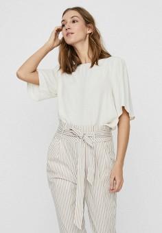 Блуза, Vero Moda, цвет: белый. Артикул: VE389EWHJEL7. Одежда / Блузы и рубашки