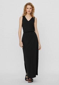 Платье, Vero Moda, цвет: черный. Артикул: VE389EWHJEM2. Одежда / Платья и сарафаны