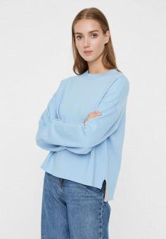 Джемпер, Vero Moda, цвет: голубой. Артикул: VE389EWHJKN1. Одежда / Джемперы, свитеры и кардиганы / Джемперы и пуловеры