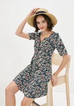Платье, Vero Moda, цвет: синий. Артикул: VE389EWHJLI7. Одежда / Платья и сарафаны / Повседневные платья