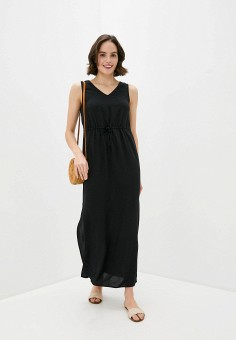 Платье, Vero Moda, цвет: черный. Артикул: VE389EWHJLJ0. Одежда / Платья и сарафаны