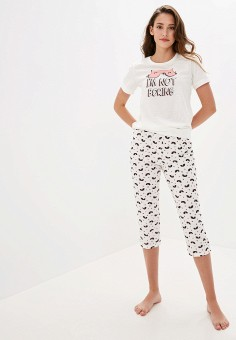 Пижама, Vis-a-Vis, цвет: белый. Артикул: VI003EWGFRO8. Одежда / Домашняя одежда / Пижамы