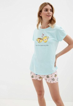 Пижама, Vis-a-Vis, цвет: бирюзовый. Артикул: VI003EWGFRO9. Одежда / Домашняя одежда / Пижамы