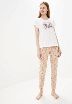 Пижама, Vis-a-Vis, цвет: бежевый, белый. Артикул: VI003EWGFRP6. Одежда / Домашняя одежда / Пижамы