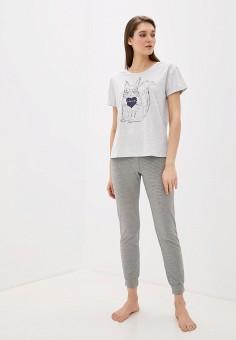 Пижама, Vis-a-Vis, цвет: серый. Артикул: VI003EWGFRQ1. Одежда / Домашняя одежда / Пижамы