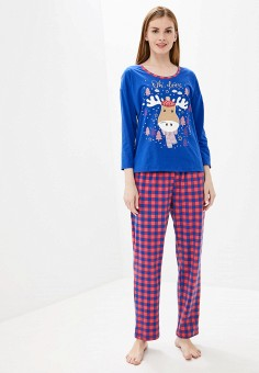 Пижама, Vis-a-Vis, цвет: красный, синий. Артикул: VI003EWGFRQ3. Одежда / Домашняя одежда / Пижамы