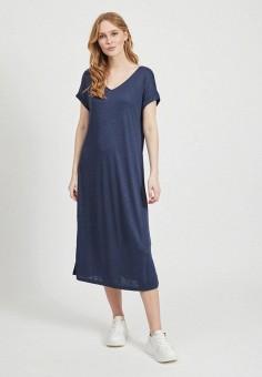 Платье, Vila, цвет: синий. Артикул: VI004EWHSOE4.