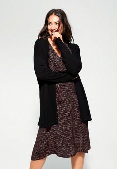 Кардиган, Violeta by Mango, цвет: черный. Артикул: VI005EWIEGB4. Одежда / Джемперы, свитеры и кардиганы / Кардиганы