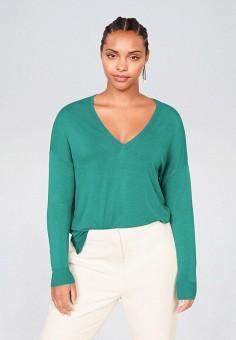 Пуловер, Violeta by Mango, цвет: бирюзовый. Артикул: VI005EWIIOS0.