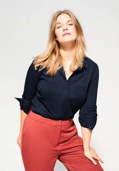 Блуза, Violeta by Mango, цвет: синий. Артикул: VI005EWIJMT1.