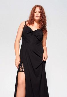 Платье, Violeta by Mango, цвет: черный. Артикул: VI005EWIRMS8. Одежда / Платья и сарафаны / Вечерние платья
