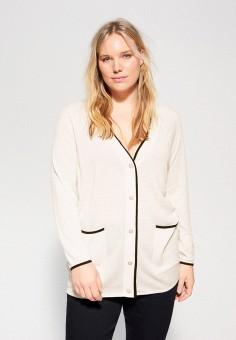 Кардиган, Violeta by Mango, цвет: белый. Артикул: VI005EWIUWE1. Одежда / Джемперы, свитеры и кардиганы / Кардиганы