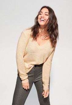 Пуловер, Violeta by Mango, цвет: бежевый. Артикул: VI005EWIUWI6.