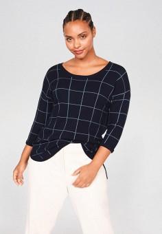 Джемпер, Violeta by Mango, цвет: синий. Артикул: VI005EWIUXM1. Одежда / Джемперы, свитеры и кардиганы / Джемперы и пуловеры / Джемперы
