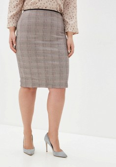 Юбка, Violeta by Mango, цвет: серый. Артикул: VI005EWIUYF6. Одежда / Юбки