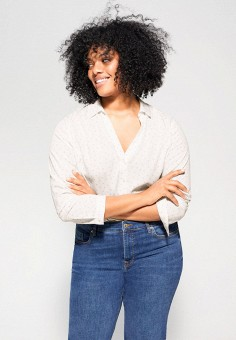Блуза, Violeta by Mango, цвет: белый. Артикул: VI005EWIUZA3. Одежда / Блузы и рубашки