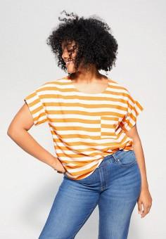 Блуза, Violeta by Mango, цвет: желтый. Артикул: VI005EWIVDI7. Одежда / Блузы и рубашки