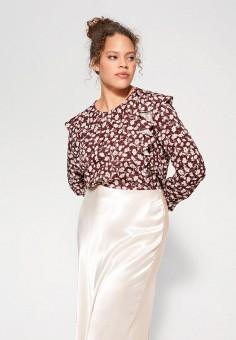 Блуза, Violeta by Mango, цвет: бордовый. Артикул: VI005EWIVDN1. Одежда / Блузы и рубашки / Блузы