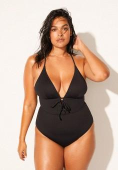 Купальник, Violeta by Mango, цвет: черный. Артикул: VI005EWIVDP6. Одежда / Купальники и пляжная одежда