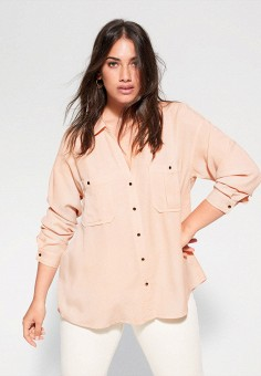 Блуза, Violeta by Mango, цвет: коралловый. Артикул: VI005EWIWPB8. Одежда / Блузы и рубашки