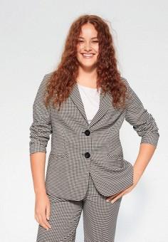 Пиджак, Violeta by Mango, цвет: серый. Артикул: VI005EWIWVD6. Одежда / Пиджаки и костюмы