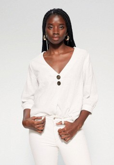 Блуза, Violeta by Mango, цвет: белый. Артикул: VI005EWJAKA5. Одежда / Блузы и рубашки