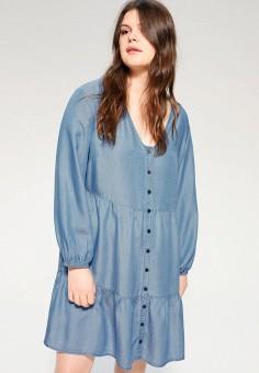 Платье, Violeta by Mango, цвет: голубой. Артикул: VI005EWJAMZ0.