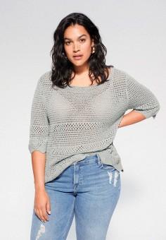 Джемпер, Violeta by Mango, цвет: серый. Артикул: VI005EWJGXQ8. Одежда / Джемперы, свитеры и кардиганы / Джемперы и пуловеры / Джемперы