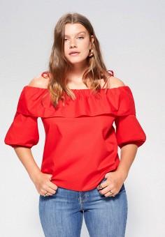 Блуза, Violeta by Mango, цвет: красный. Артикул: VI005EWJGXS6. Одежда / Блузы и рубашки