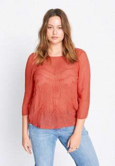 Блуза, Violeta by Mango, цвет: оранжевый. Артикул: VI005EWJNOP1. Одежда / Блузы и рубашки