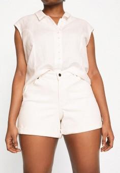 Шорты джинсовые, Violeta by Mango, цвет: белый. Артикул: VI005EWJYRB3. Одежда / Шорты
