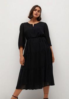 Платье, Violeta by Mango, цвет: черный. Артикул: VI005EWKKED1.