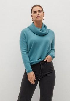 Джемпер, Violeta by Mango, цвет: бирюзовый. Артикул: VI005EWKLGX3. Одежда / Джемперы, свитеры и кардиганы / Джемперы и пуловеры / Джемперы