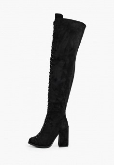 Ботфорты, Vivian Royal, цвет: черный. Артикул: VI809AWKISZ5. Обувь / Сапоги / Ботфорты