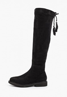 Ботфорты, Vivian Royal, цвет: черный. Артикул: VI809AWKITC1. Обувь / Сапоги / Ботфорты