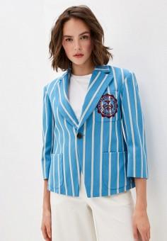 Пиджак, Vivienne Westwood Anglomania, цвет: голубой. Артикул: VI989EWHVVQ5. Одежда / Пиджаки и костюмы