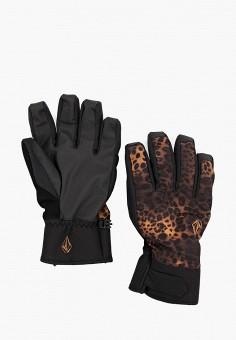 Перчатки горнолыжные, Volcom, цвет: черный. Артикул: VO001DMHGSF7. Аксессуары / Перчатки и варежки