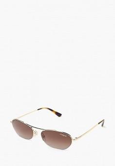 Очки солнцезащитные, Vogue? Eyewear, цвет: золотой. Артикул: VO007DWBZPB4. Аксессуары / Очки