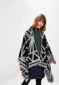 Накидка, Wallis, цвет: черный. Артикул: WA007EWDEPE9. Одежда / Джемперы, свитеры и кардиганы / Кардиганы