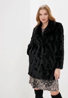 Шуба, Wallis, цвет: черный. Артикул: WA007EWHGJK5. Одежда / Верхняя одежда / Шубы и дубленки