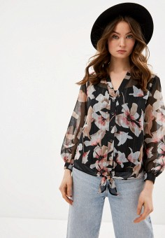Блуза, Wallis, цвет: черный. Артикул: WA007EWIEWU2. Одежда / Блузы и рубашки / Блузы