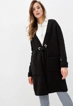 Кардиган, Wallis, цвет: черный. Артикул: WA007EWINQB7. Одежда / Джемперы, свитеры и кардиганы / Кардиганы