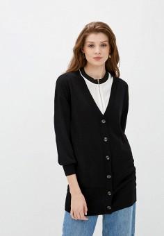 Кардиган, Wallis, цвет: черный. Артикул: WA007EWISRZ9. Одежда / Джемперы, свитеры и кардиганы / Кардиганы