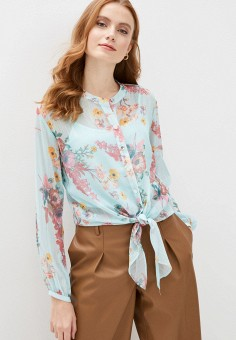 Блуза, Wallis, цвет: бирюзовый. Артикул: WA007EWIVFH9. Одежда / Блузы и рубашки / Блузы