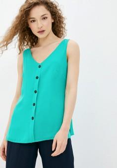 Блуза, Wallis, цвет: бирюзовый. Артикул: WA007EWJCZH4. Одежда / Блузы и рубашки