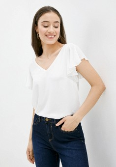 Блуза, Wallis, цвет: белый. Артикул: WA007EWJPMS3. Одежда / Блузы и рубашки