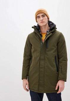 Куртка утепленная, Warren Webber, цвет: хаки. Артикул: WA010EMHTIG6. Одежда / Верхняя одежда / Пуховики и зимние куртки