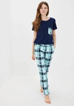 Пижама, Winzor, цвет: бирюзовый, синий. Артикул: WI011EWJOJJ3. Одежда / Домашняя одежда / Пижамы