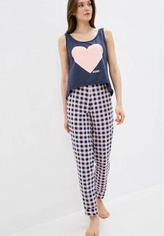 Пижама, Winzor, цвет: розовый, синий. Артикул: WI011EWJOJK6. Одежда / Домашняя одежда / Пижамы